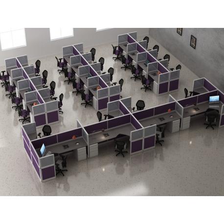 Módulo de mamparas para telemarketing