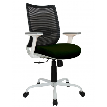 Sillón directivo blanco reclinable