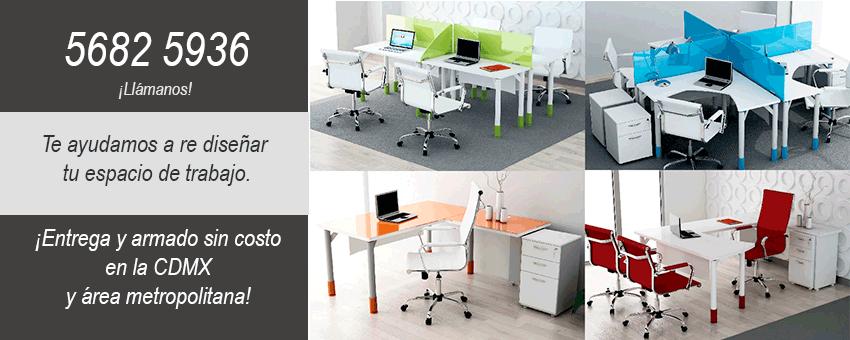 Rediseñamos tu espacio de trabajo con muebles para oficina